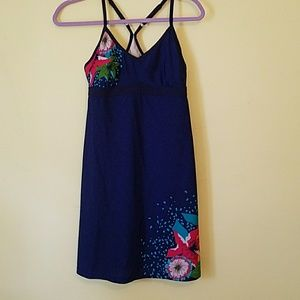 Athleta Dresses - Athleta Blue Floral Swim Dress